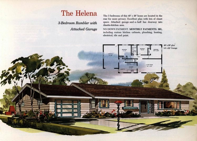 Vintage midcentury 1960s home plans from Collier Barnett in 1963 (13)