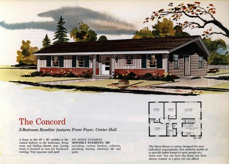 Vintage midcentury 1960s home plans from Collier Barnett in 1963 (14)