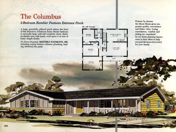 Vintage midcentury 1960s home plans from Collier Barnett in 1963 (15)