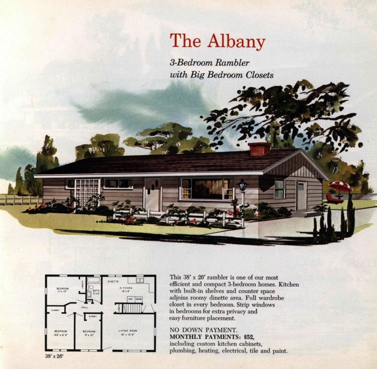 Vintage midcentury 1960s home plans from Collier Barnett in 1963 (16)