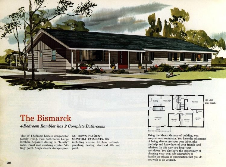 Vintage midcentury 1960s home plans from Collier Barnett in 1963 (17)