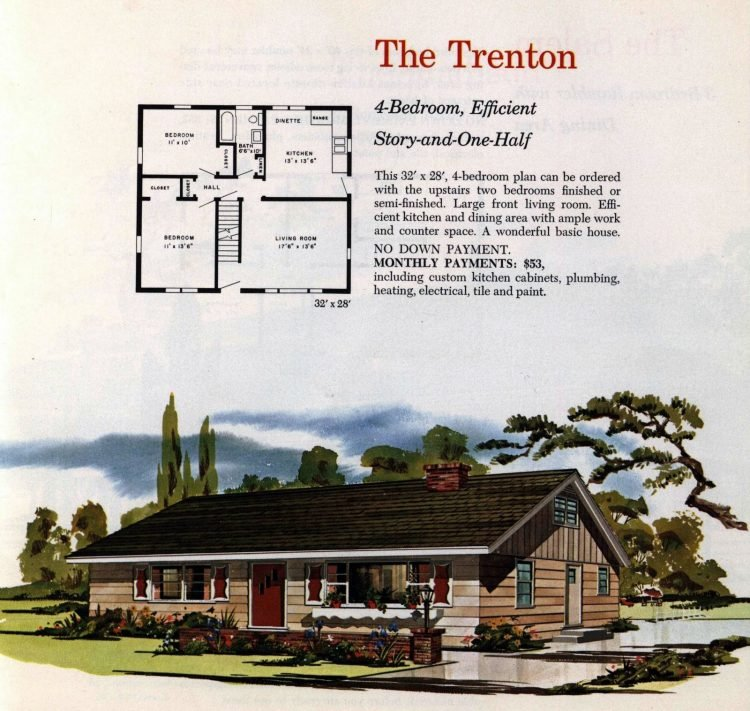 Vintage midcentury 1960s home plans from Collier Barnett in 1963 (18)