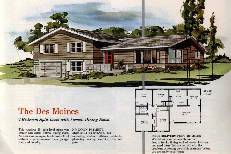 Vintage midcentury 1960s home plans from Collier Barnett in 1963 (2)