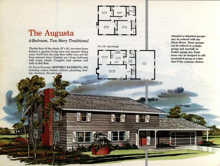 Vintage midcentury 1960s home plans from Collier Barnett in 1963 (21)