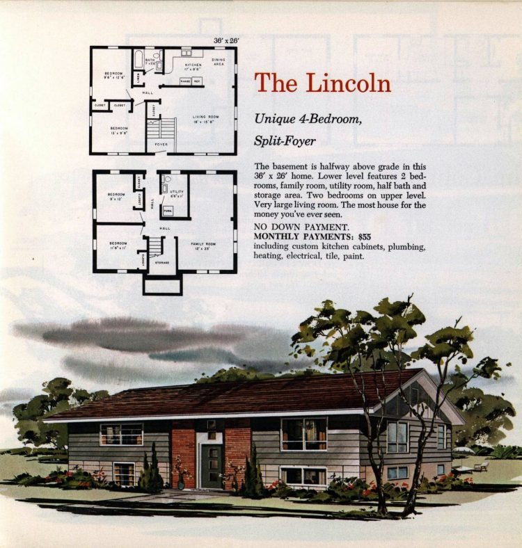 Vintage midcentury 1960s home plans from Collier Barnett in 1963 (22)