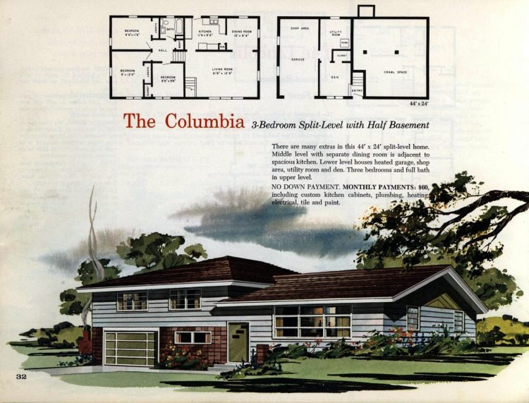 Vintage midcentury 1960s home plans from Collier Barnett in 1963 (23)