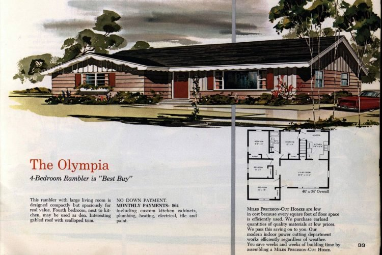 Vintage midcentury 1960s home plans from Collier Barnett in 1963 (24)