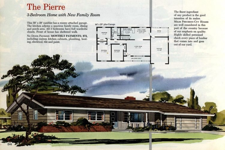 Vintage midcentury 1960s home plans from Collier Barnett in 1963 (25)