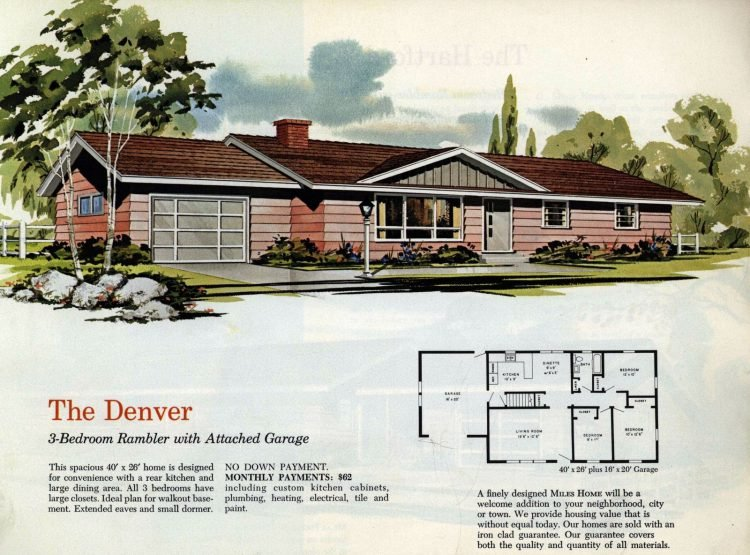 Vintage midcentury 1960s home plans from Collier Barnett in 1963 (3)
