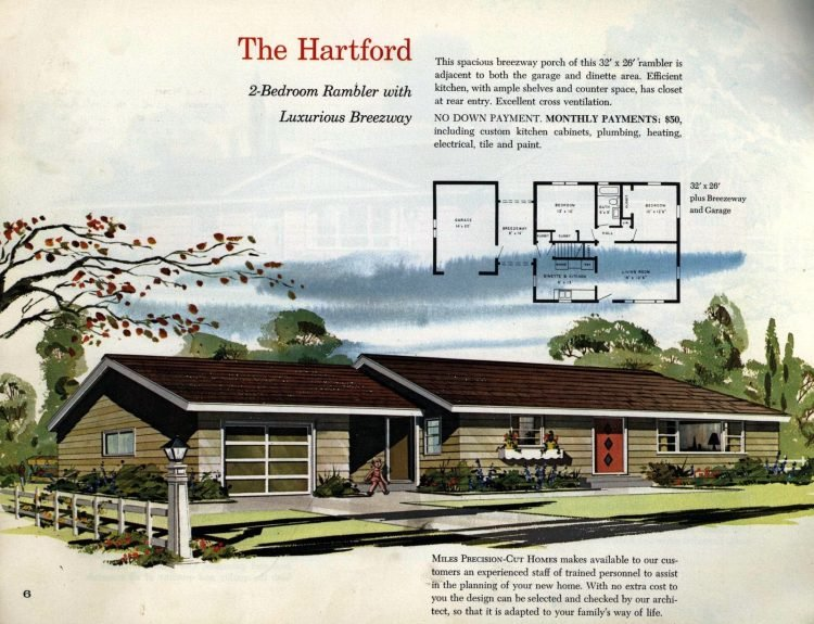 Vintage midcentury 1960s home plans from Collier Barnett in 1963 (4)
