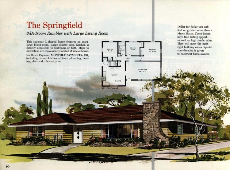 Vintage midcentury 1960s home plans from Collier Barnett in 1963 (6)
