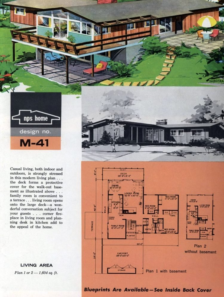 Vintage midcentury home plans from 1963 (10)