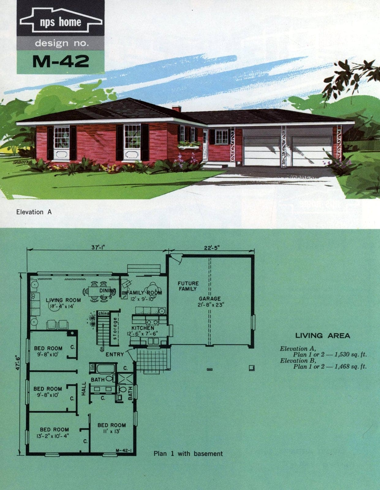 Vintage midcentury home plans from 1963 (11)