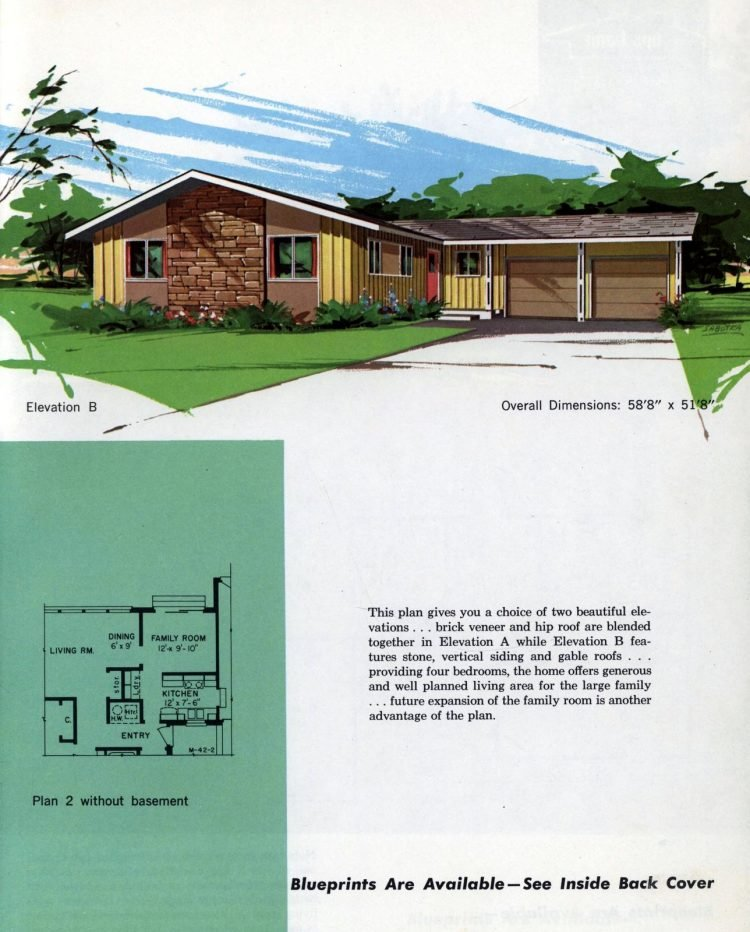 Vintage midcentury home plans from 1963 (12)
