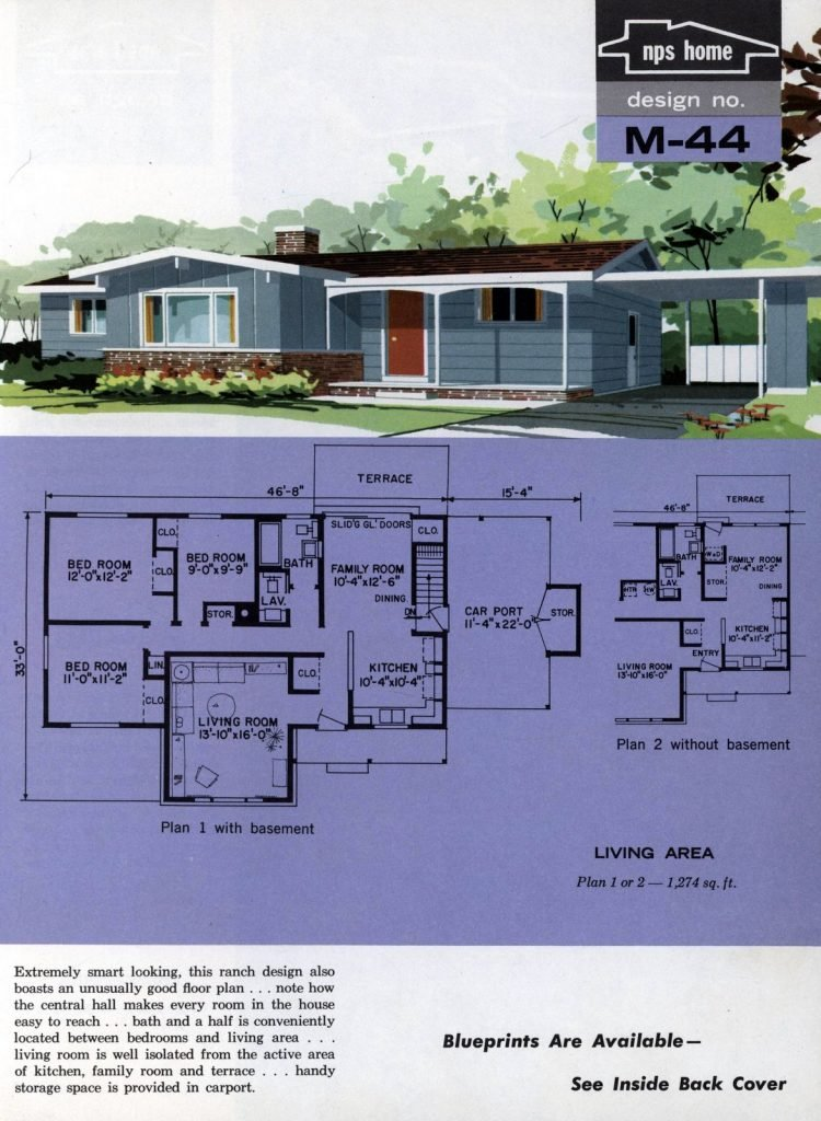 Vintage midcentury home plans from 1963 (14)