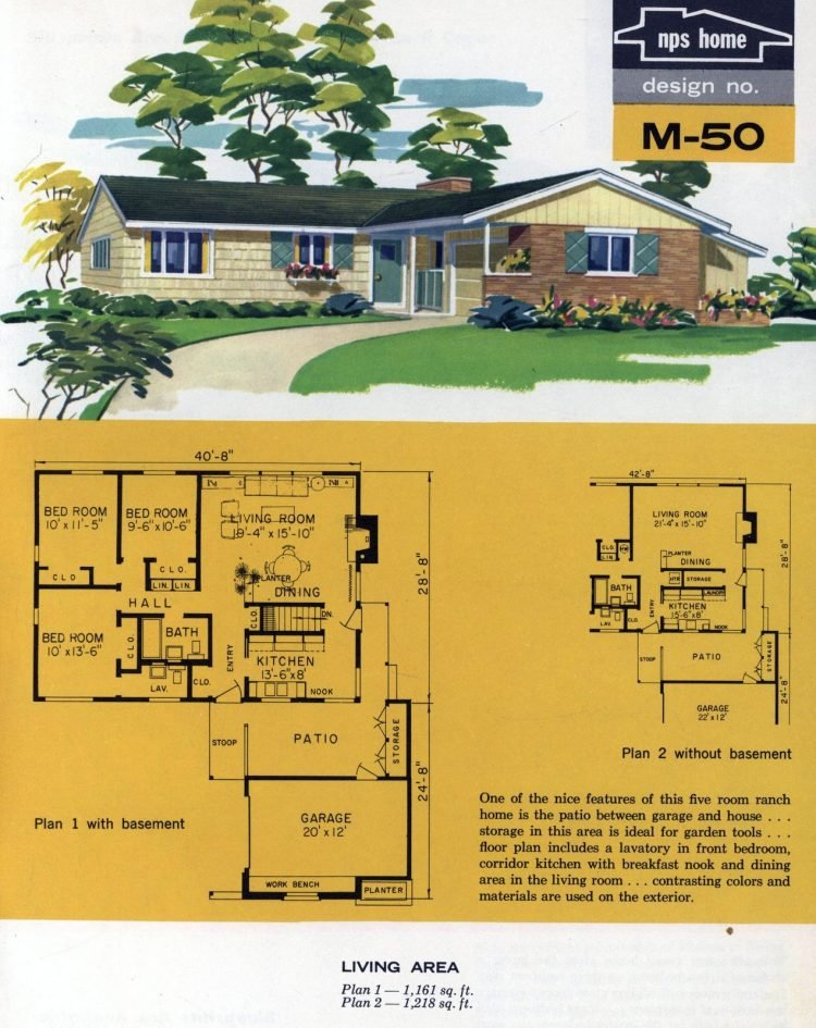 Vintage midcentury home plans from 1963 (15)