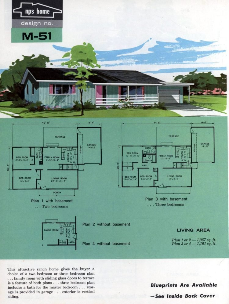 Vintage midcentury home plans from 1963 (16)
