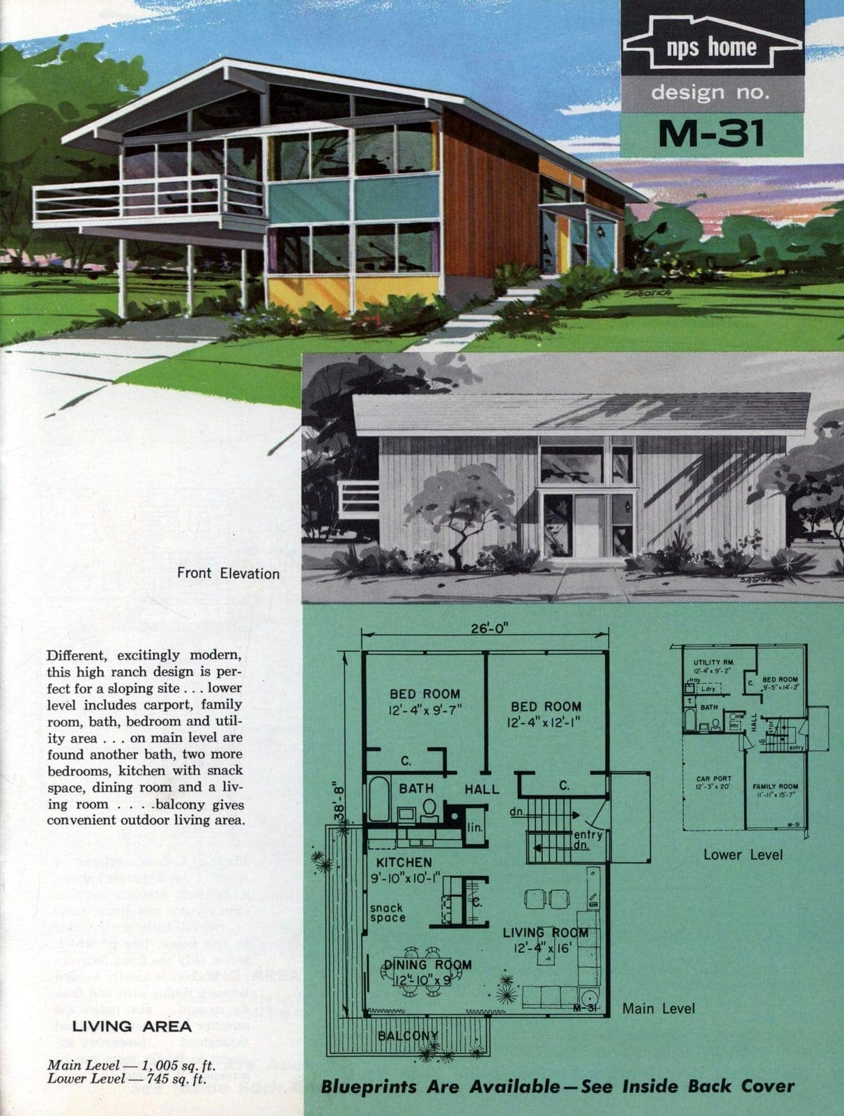 Vintage midcentury home plans from 1963 (3)