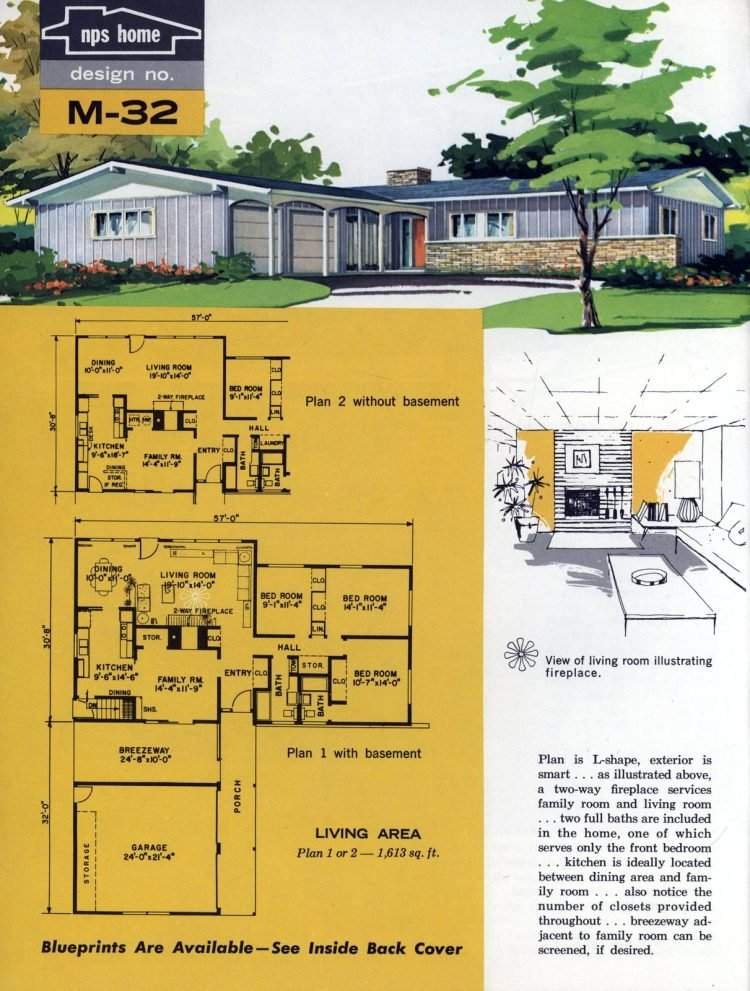 Vintage midcentury home plans from 1963 (4)
