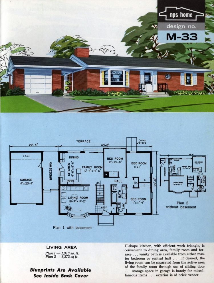 Vintage midcentury home plans from 1963 (5)