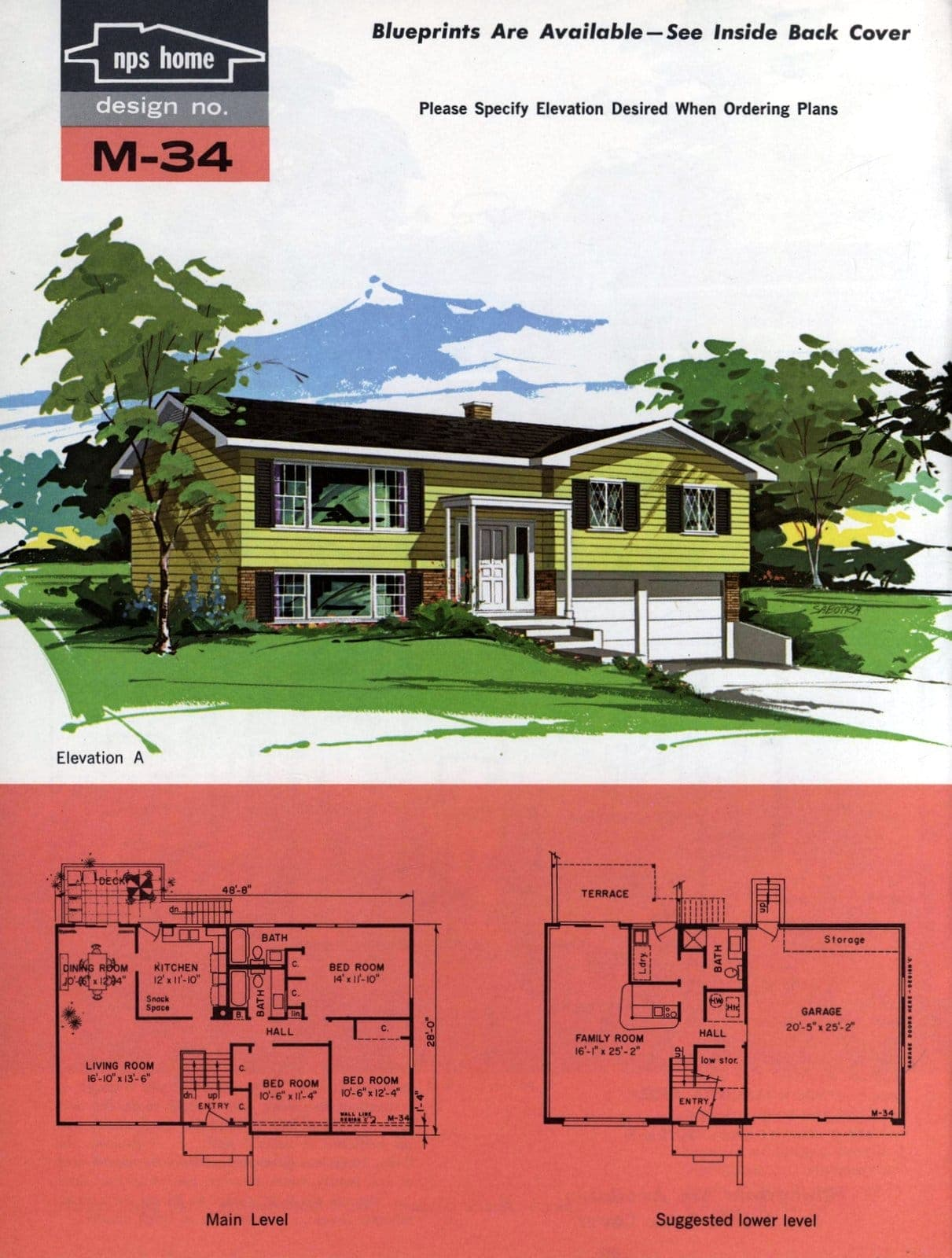 Vintage midcentury home plans from 1963 (6)