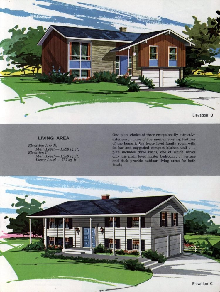 Vintage midcentury home plans from 1963 (7)