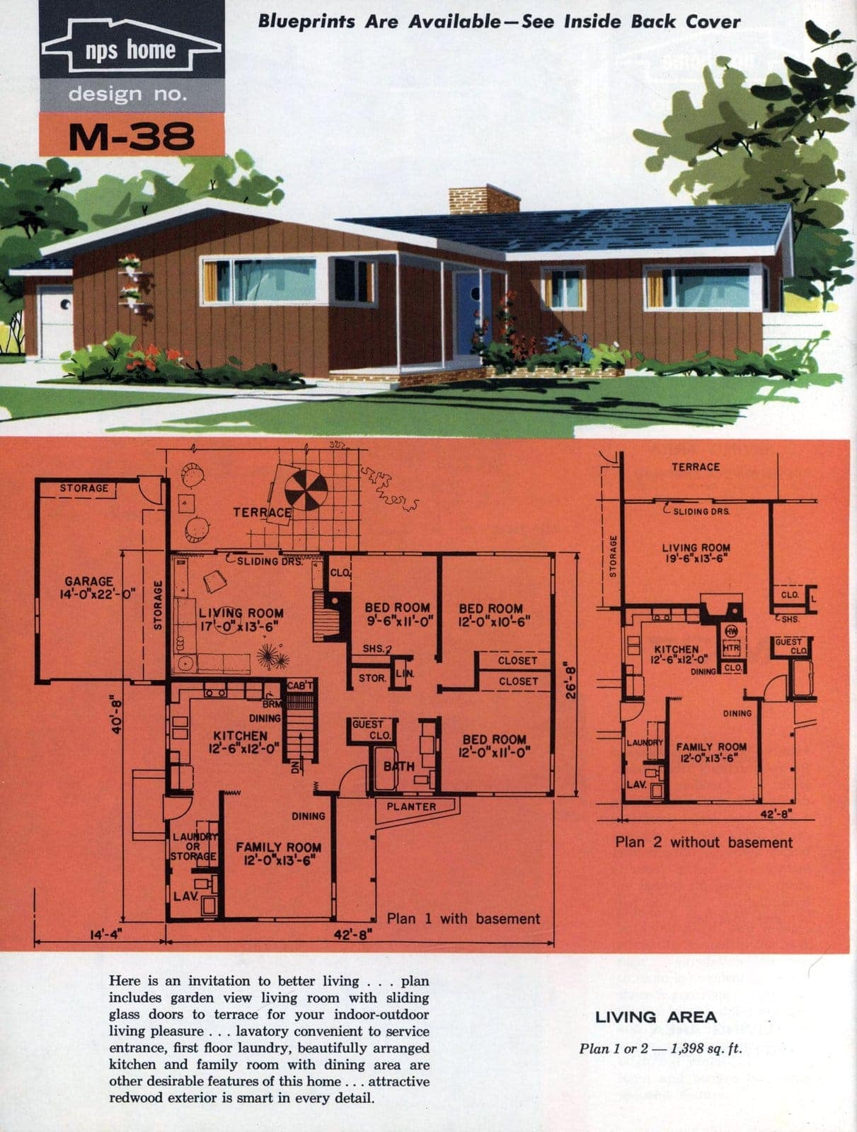 Vintage midcentury home plans from 1963 (8)