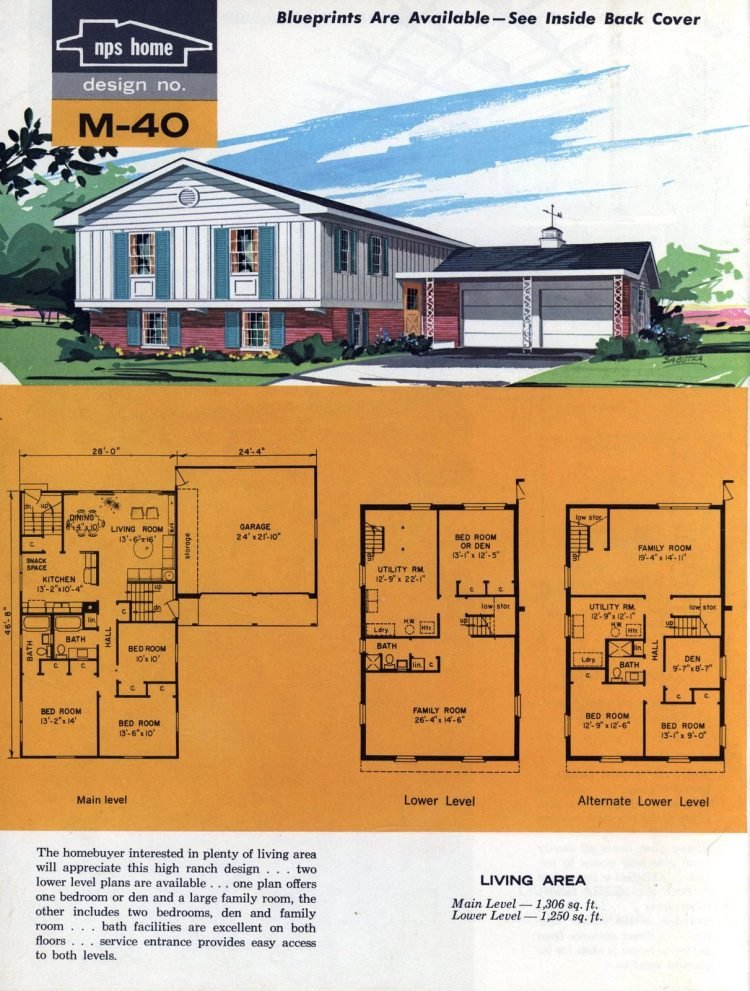Vintage midcentury home plans from 1963 (9)
