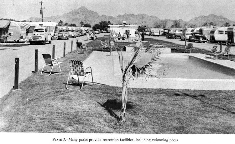 Vintage mobile home park - trailer park - amenities in 1955 (5)