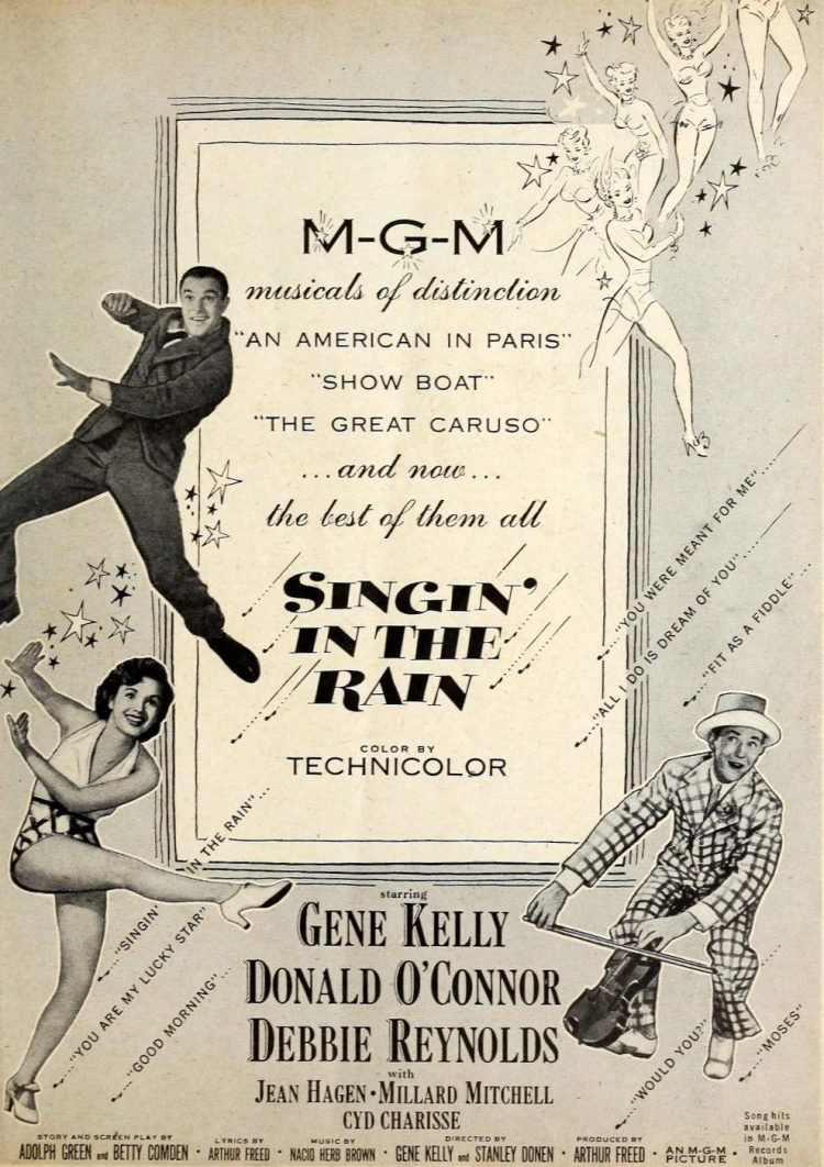 Vintage movie - Singin in the Rain ad