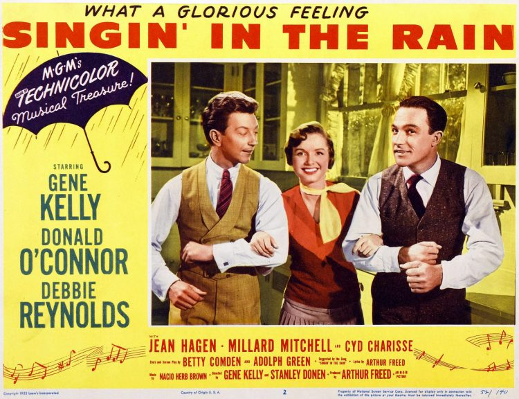 Vintage movie - Singin in the Rain lobby card