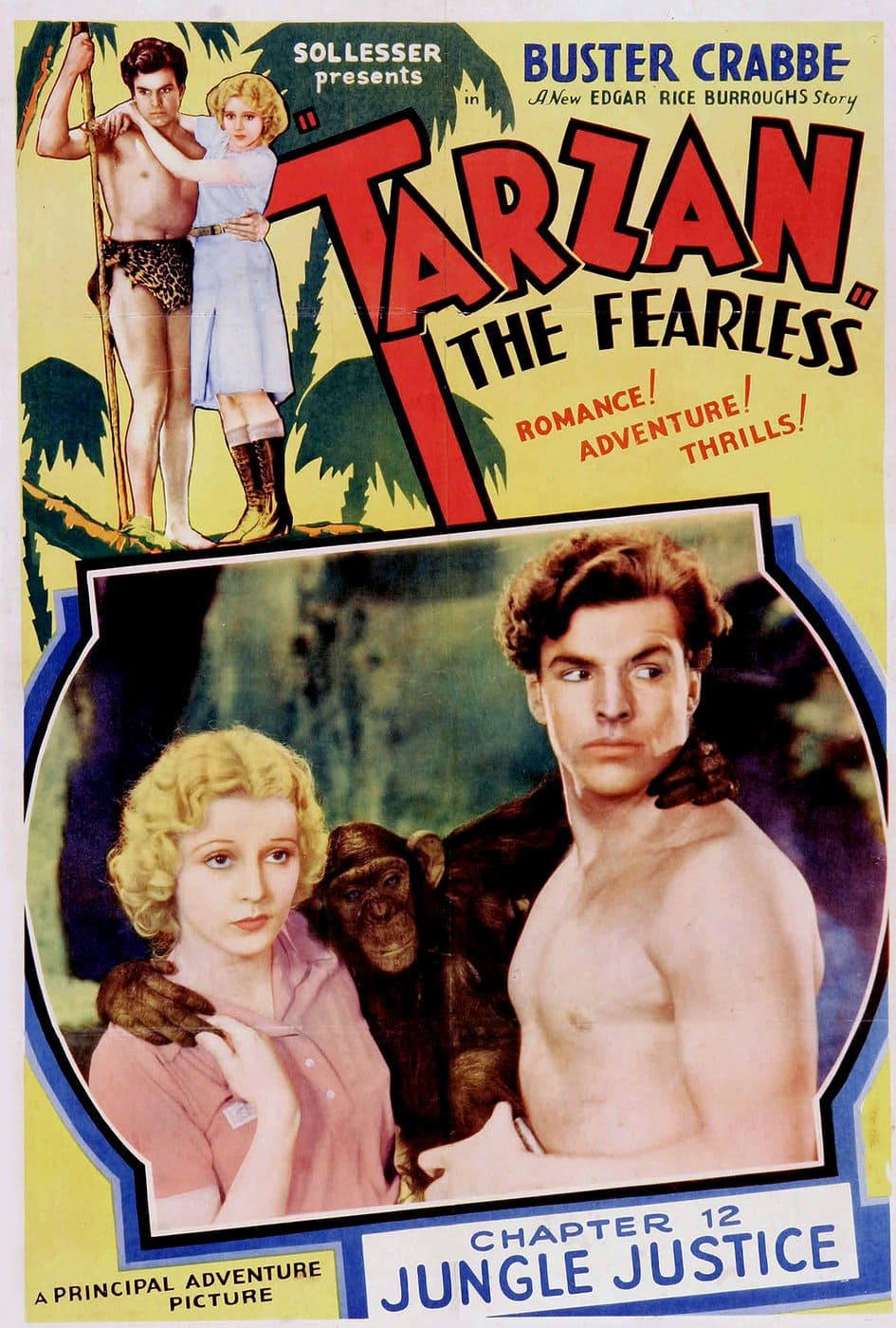 Vintage movie Tarzan the Fearless, starring Buster Crabbe