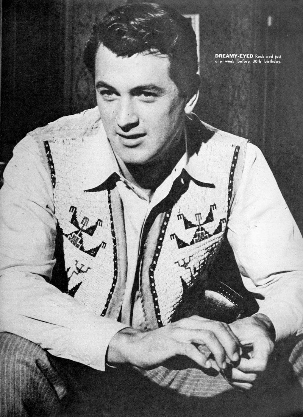 Vintage movie actor Rock Hudson - 50s (1)