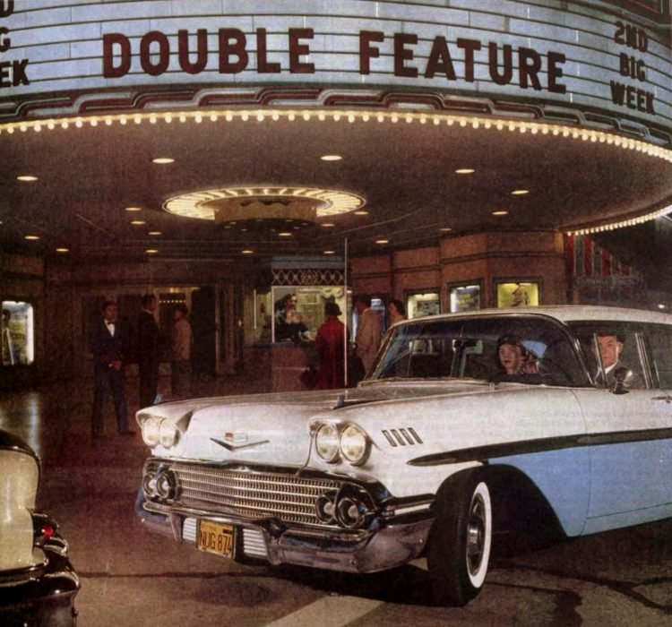 Vintage movie theater from 1958