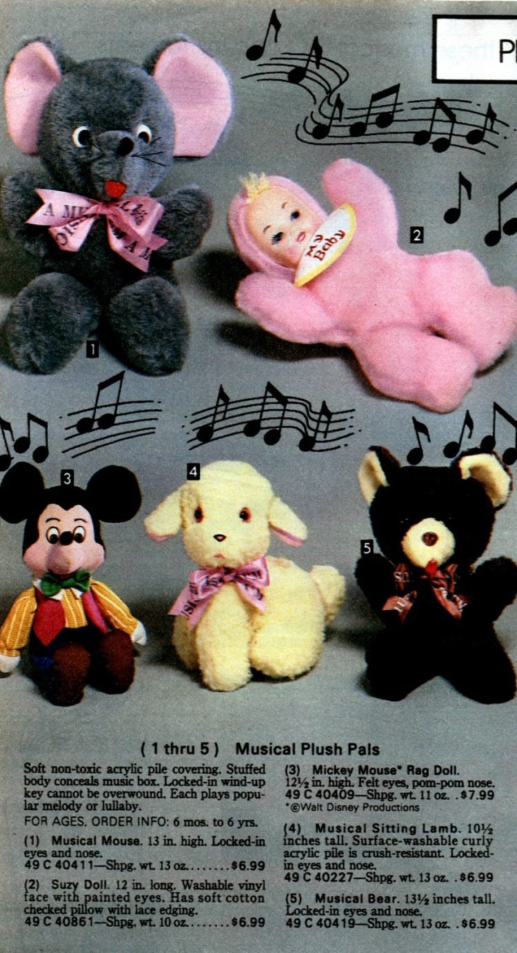 Vintage musical plush pals - Toys from the 80s