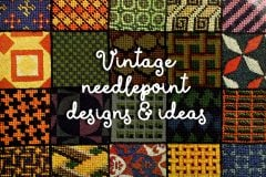 Vintage needlepoint design ideas and inspiration