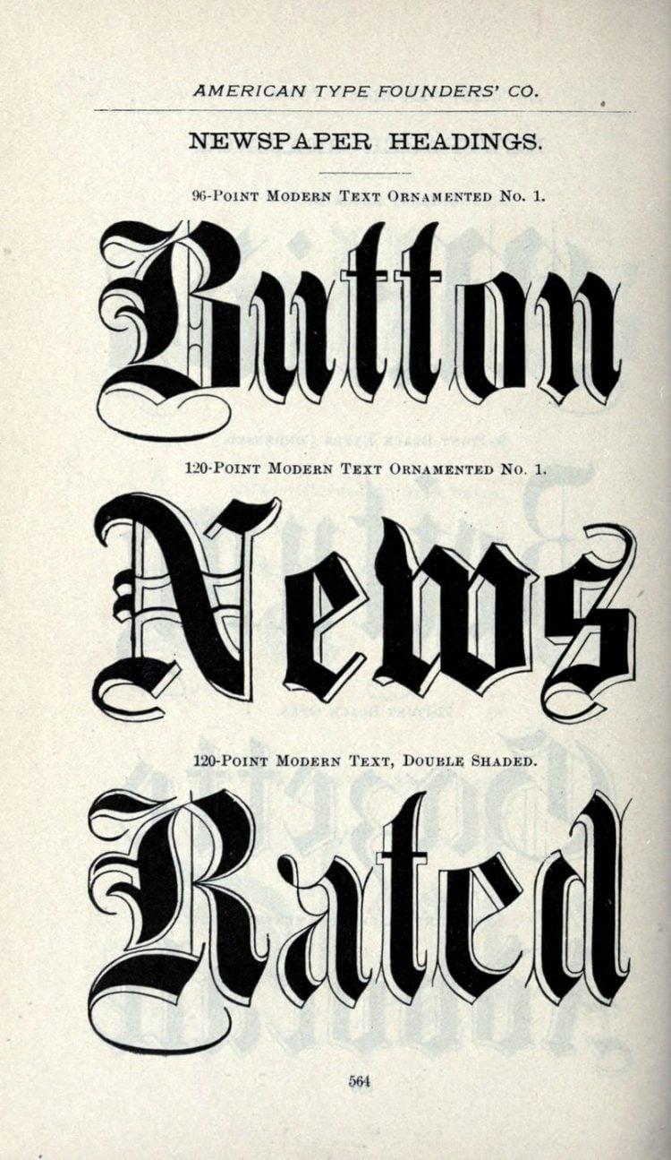 Vintage newspaper headings typeface - Vintage font styles