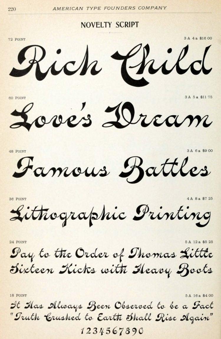Vintage novelty typeface - Vintage font styles