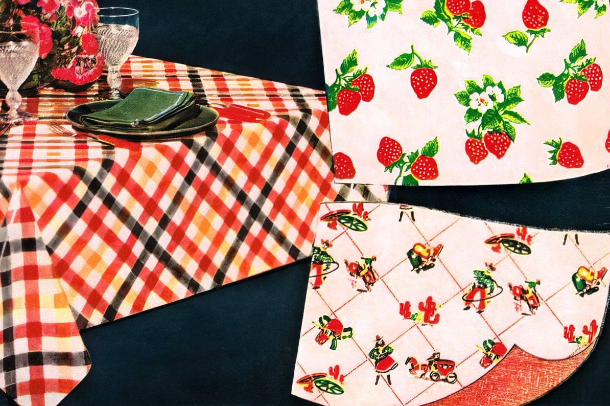 Vintage oilcloth from the 1950s