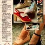 Vintage open-toe high-heel sandals with T-straps and knotted vamps plus ankle straps