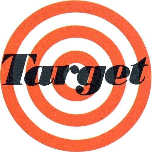 Vintage original Target store logo - 1960s