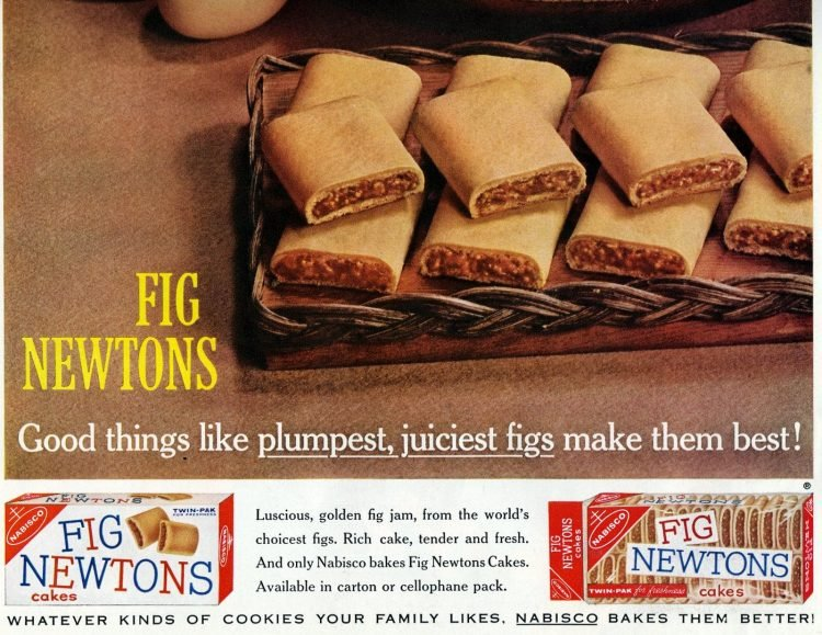 Vintage package Fig Newtons cakes (1961)