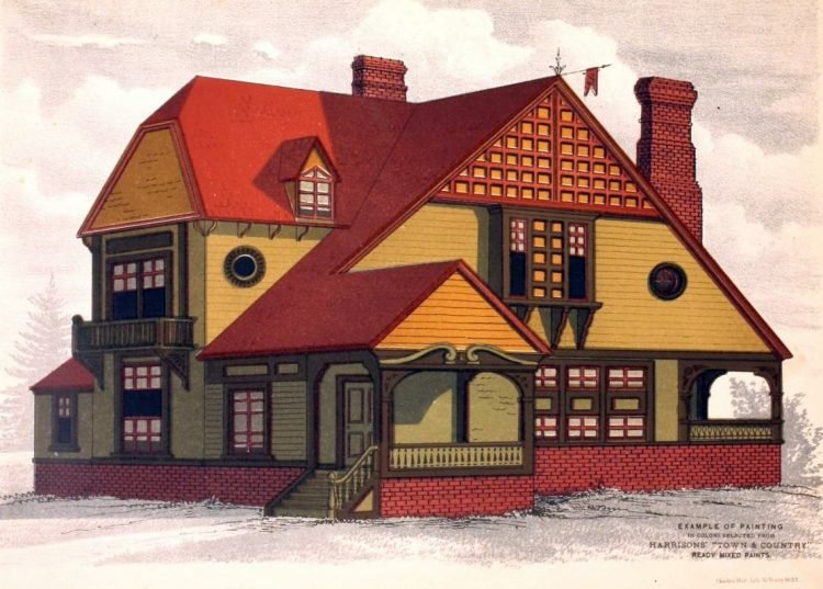 Vintage painted homes from 1884 (1)