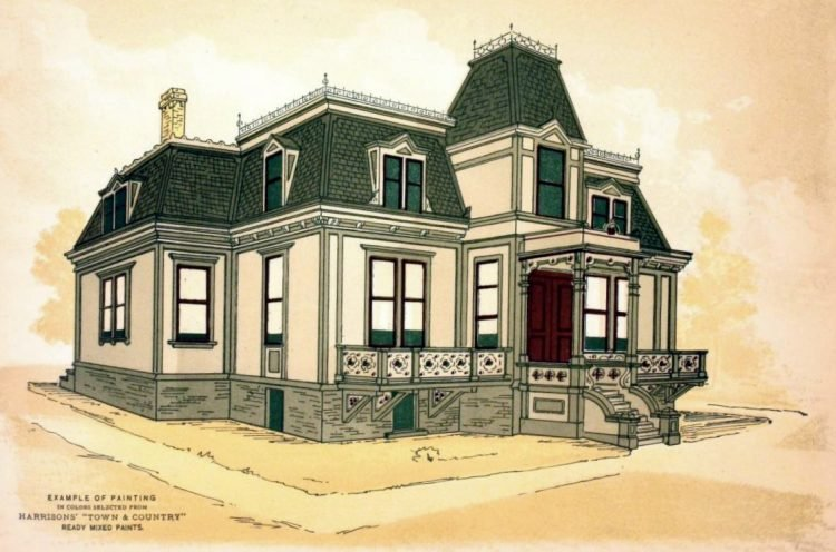 Vintage painted homes from 1884 (2)