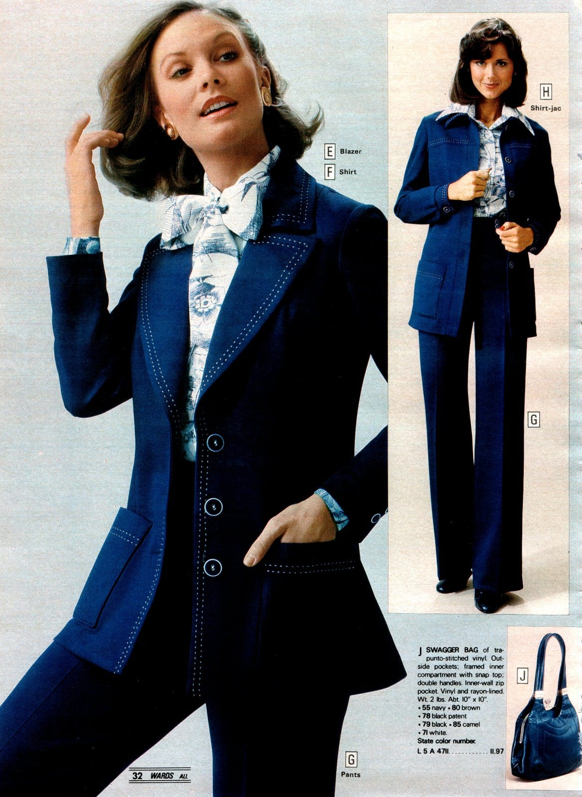 Vintage pantsuits from the seveties