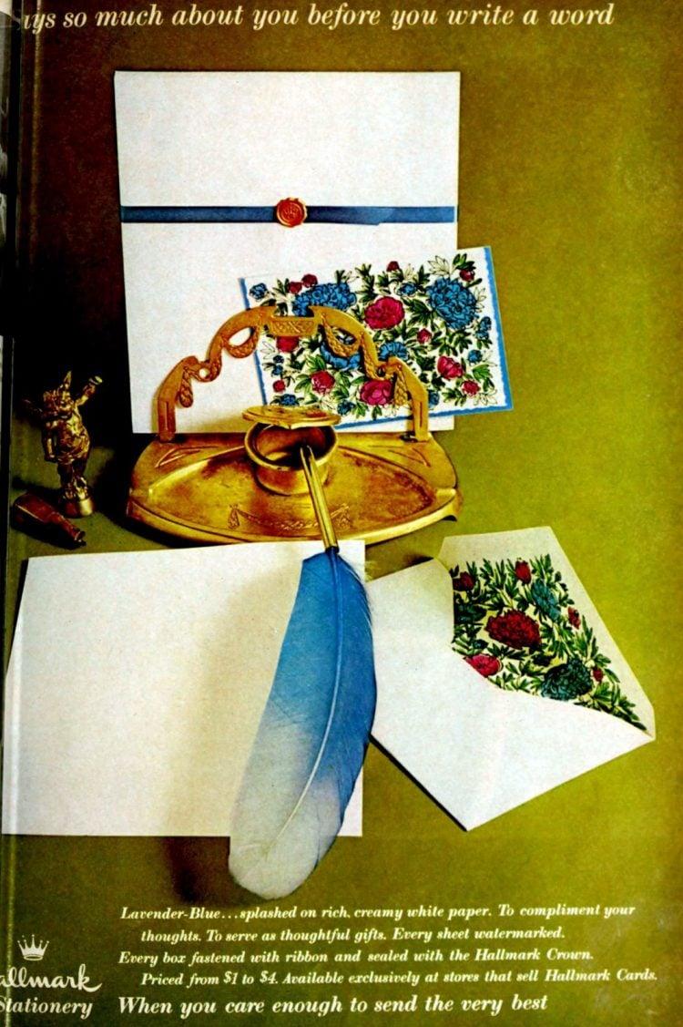 Vintage paper and envelope set from Hallmark 1960s