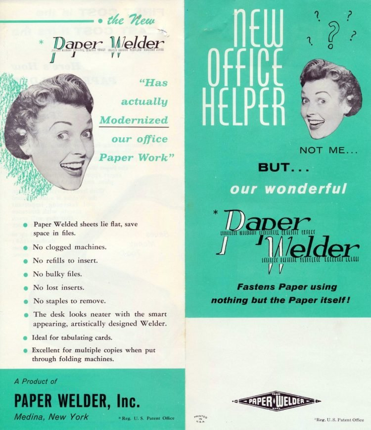 Vintage paper welder office supplies from the 60s and 70s (2)