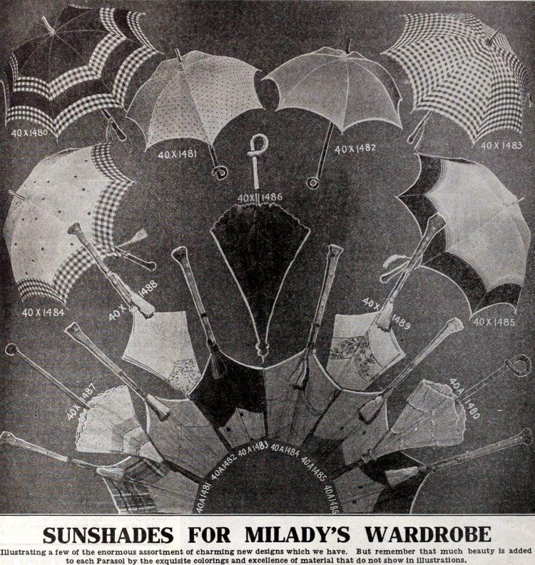 Vintage parasols - Antique catalog (2)