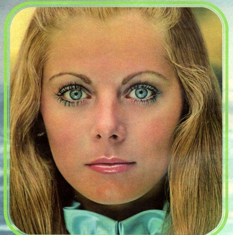 Retro pastel eye makeup from 1971