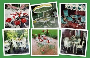 Vintage patio furniture sets outdoor relaxation the old-fashioned way